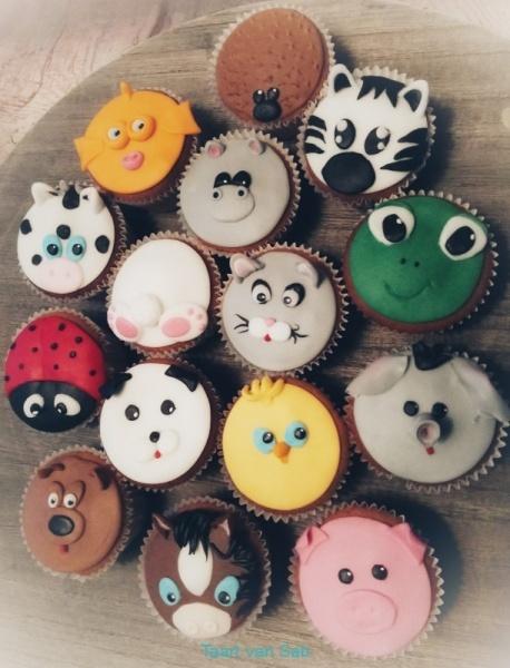 dieren-cup-cakes